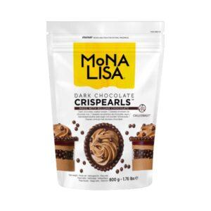 Mona Lisa - Decorațiuni CRISPEARLS ciocolată neagră