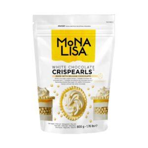 Mona Lisa - Decorațiuni CRISPEARLS ciocolată albă
