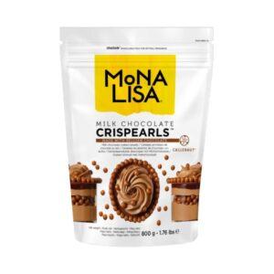 Mona Lisa - Decorațiuni CRISPEARLS ciocolată cu lapte