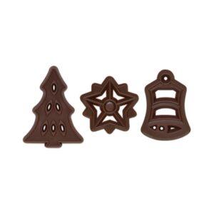 Decorațiuni de ciocolată neagră - Crăciun