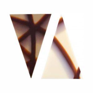 Barbara Decor - Decorațiuni de ciocolată triunghi - Marble Triangle