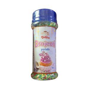 Sprinklles - Perle multicolore(verde închis/deschis, alb, roz)